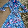 Lilly Pulitzer Dresses | Lilly Pulitzer Women'S Lilly Pulitzer Alyanna Midi Dress- Xs | Color: Blue/Pink | Size: Xs