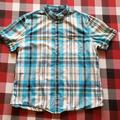 American Eagle Outfitters Shirts   Men'S American Eagle Button Up Plaid Short Sleeve Xl   Color: Blue   Size: Xl