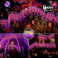 The Holiday Aisle® Halloween Lights Outdoor Decorations Lighting Modes Curtain Fairy String Light w/, Size 6.95 H x 3.84 W x 3.84 D in | Wayfair