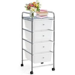 "Rebrilliant Andrillon Rolling 12.5"" Storage Drawer in White, Size 30.0 H x 12.5 W x 14.5 D in   Wayfair 003916CC84D24F94877AF8A87A551294"