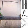YXSUN Square Wedding Arch, Wrought Iron Metal Framework Backdrop Stand Garden Arch For Party Photo Booth Backdrop Plants Roses Arbor Decoration ()