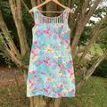Lilly Pulitzer Dresses | Lily Pulitzer Rare Print Lilys Story Dress | Color: Blue/Pink | Size: 10