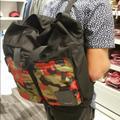 Michael Kors Bags | Michael Kors Men Kent Nylon Backpack Camo Red Black Green | Color: Black/Green | Size: Os