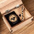 BOBO BIRD – montre pour hommes, ensemble de bracelets en bois, chronographe, montres à Quartz dans