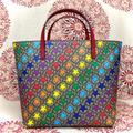 Gucci Accessories   Gucci Kids Beigegg Supreme Rainbow Star Tote Bag 410812 Girls Purse   Color: Green/Red   Size: Osg