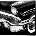 Williston Forge Vintage Car 1 By Photoinc Studio, Canvas Wall Art Canvas & Fabric in Black/Brown/White, Size 24.0 H x 24.0 W x 1.5 D in | Wayfair
