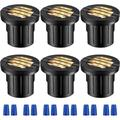 IMMORTAL Pack Of 6,6W Well Light LED, Low Voltage 12-24V, Grill Top In-Ground Lighting,IP67 Waterproof Landscape Lights For Yard, Garden | Wayfair