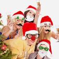 UNOMOR 38 Pieces Photo Booth Props & Photo Accessories For Atmospheric & Funny Images For Christmas Party in Black/White   Wayfair 1898648-Z0006