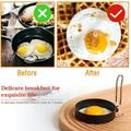 Prep & Savour Anti-Scald Handle Eggs-Round Egg Rings Frying Eggs & English Muffin Pancake Cooking For Camping Sandwich Burger in Black | Wayfair