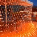 The Holiday Aisle® Outdoor Halloween Net Lights, 12FT X 5FT 360 LED Christmas Fairy Mesh Lights w/ 8 Lighting Modes in Orange | Wayfair
