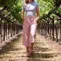 Anthropologie Pants & Jumpsuits | Anthropologie Blythe Pink Paperbag Wide Leg High Rise Pants | Color: Pink | Size: 8