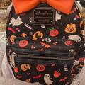 Disney Bags | Minnie Mouse Halloween Loungefly Mini Backpack | Color: Black/Orange | Size: Os