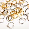 Boucles d'oreilles à Clip en métal argent, Rhodium, Base ronde, fermoir à boucle, accessoires de