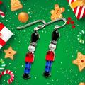 Boucles d'oreilles soldat jouet, boucles d'oreilles de vacances, boucles d'oreilles de noël, boucles