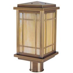 Arroyo Craftsman Avenue 13 Inch Tall 1 Light Outdoor Post Lamp - AVP-8-AM-BK