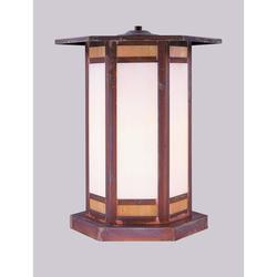 Arroyo Craftsman Etoile 11 Inch Tall 1 Light Outdoor Pier Lamp - ETC-9-GWC-BZ