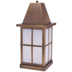 Arroyo Craftsman Hartford 15 Inch Tall 1 Light Outdoor Pier Lamp - HC-6-AM-BK