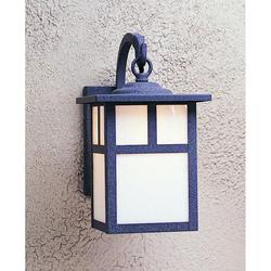 Arroyo Craftsman Mission 12 Inch Tall 1 Light Outdoor Wall Light - MB-7E-AM-BK