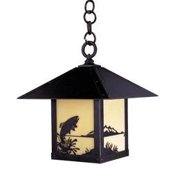 Arroyo Craftsman Timber Ridge 12 Inch Tall 1 Light Outdoor Hanging Lantern - TRH-9TR-TN-BZ