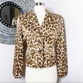 Burberry Jackets & Coats | Burberry Satin Leopard Print Button Front Silk Blend Jacket | Color: Brown/Tan | Size: 4