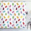 Rideau de douche décoratif pour enfants, rideau de douche avec des ours gommeux colorés, salle de