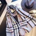 Écharpes en cachemire pour femmes, longue écharpe chaude, classique anglais, Plaid, collection