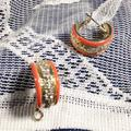 Anthropologie Jewelry   3 Items Free Shipping Uterque Huggie Earrings   Color: Gold/Orange   Size: Os