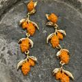 Anthropologie Jewelry   New Orange With An Attitude Earrings   Color: Gold/Orange/Red   Size: Os