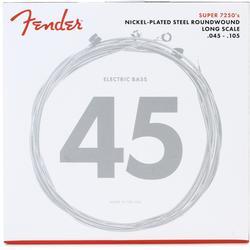 Fender 7250M Nickel Plated Steel Long Scale Bass Strings .045-.105 Medium