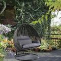 ROPALIA Black Hanging Swing Chair,Double Seat Hammock Chair w/ Cushion, Size 78.74 H x 47.24 W in | Wayfair HXLGD0102HENNSA-193