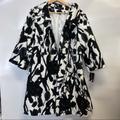 Nine West Jackets & Coats | Nine West Black Floral Jacket | Color: Black/White | Size: S
