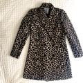 Anthropologie Jackets & Coats | Anthropologie Leopard Print Jacquard Coat Size 4 | Color: Brown | Size: 4