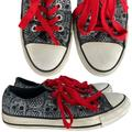 Converse Shoes | Converse All Stars Skull Head Sneakers | 7 | Color: Black/Red | Size: 7