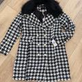 Jessica Simpson Jackets & Coats | Jessica Simpson Houndstooth Coat (Nwt) | Color: Black/White | Size: M