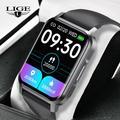 LIGE – montre connectée NK15 pour hommes et femmes, bracelet électronique de Sport, carré, horloge,