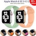 Bracelet sport en caoutchouc Silicone pour Apple Watch, 44mm 40mm 38mm 42mm, pour montre connectée