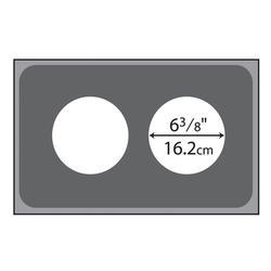 "Vollrath 19190 Adaptor Plate - (2) 6 3/8"" Holes, Stainless Steel"