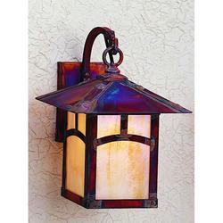 Arroyo Craftsman Evergreen 13 Inch Tall 1 Light Outdoor Wall Light - EB-9A-TN-BK