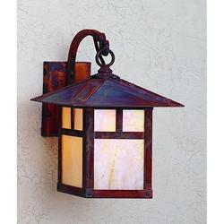 Arroyo Craftsman Evergreen 13 Inch Tall 1 Light Outdoor Wall Light - EB-9T-GW-VP