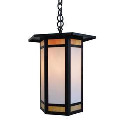 Arroyo Craftsman Etoile 18 Inch Tall 1 Light Outdoor Hanging Lantern - ETH-14-GWC-BZ