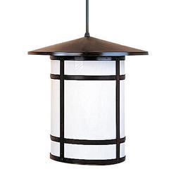 Arroyo Craftsman Berkeley 41 Inch Tall 1 Light Outdoor Hanging Lantern - BSH-17L-WO-BZ
