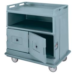 "Cambro MDC24F401 44 1/2"" Polymer Beverage Service Cart, 30""D x 44""H, Blue"