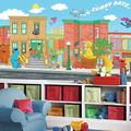 RoomMates JL1213M Sesame Street Water Activated Removable Wallpaper Mural - 10.5 ft. x 6 ft.