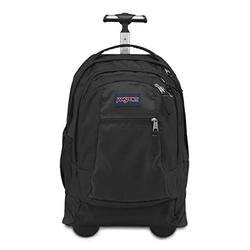 JanSport Driver 8 Rolling Backpack - Wheeled Travel Bag with 15-Inch Laptop Sleeve, Black