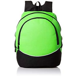 Augusta Sportswear Large Tri-Color Backpack, One Size, Lime/Black/White