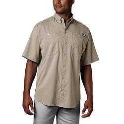 Columbia Men's Tamiami II Short Sleeve Shirt, Fossil, X-Large