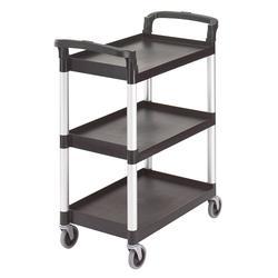 Cambro BC331KD110 3 Level Polymer Utility Cart w/ 300 lb Capacity, Raised Ledges