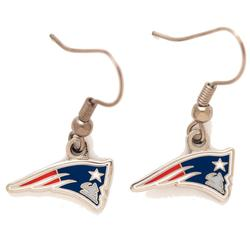 New England Patriots Team Logo Wire Earrings
