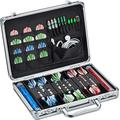 Casemaster Legion Aluminum Dart Case Holds 9 Steel Tip and Soft Tip Darts with Extra Space to Keep Flights in Shape, and Numerous Pockets and Tubes for Storage of Accessories