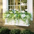 Devon Easy-Care Window Box Planter Pots - White, 3' - Grandin Road